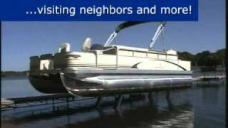 Sea Legs for your Pontoon Boat from Grand Rapids Marine, MN.  Hydraulic Pontoon Lift for Pontoons