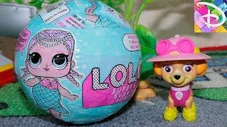 Куклы ЛОЛ РАСПАКОВКА новая подружка для ЩЕНЯЧИЙ ПАТРУЛЬ Сюрприз ЛОЛ видео для детей