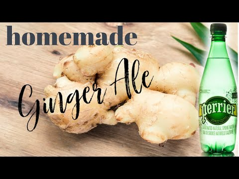 HOMEMADE GINGER ALE FROM SCRATCH || QUICK & EASY DRINK RECIPES