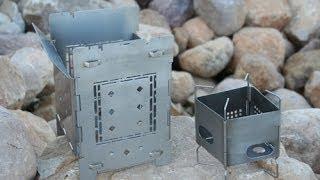 "Folding Firebox Original 5"" And New 3"" Nano Wood Burning Camp Stove Introduction."