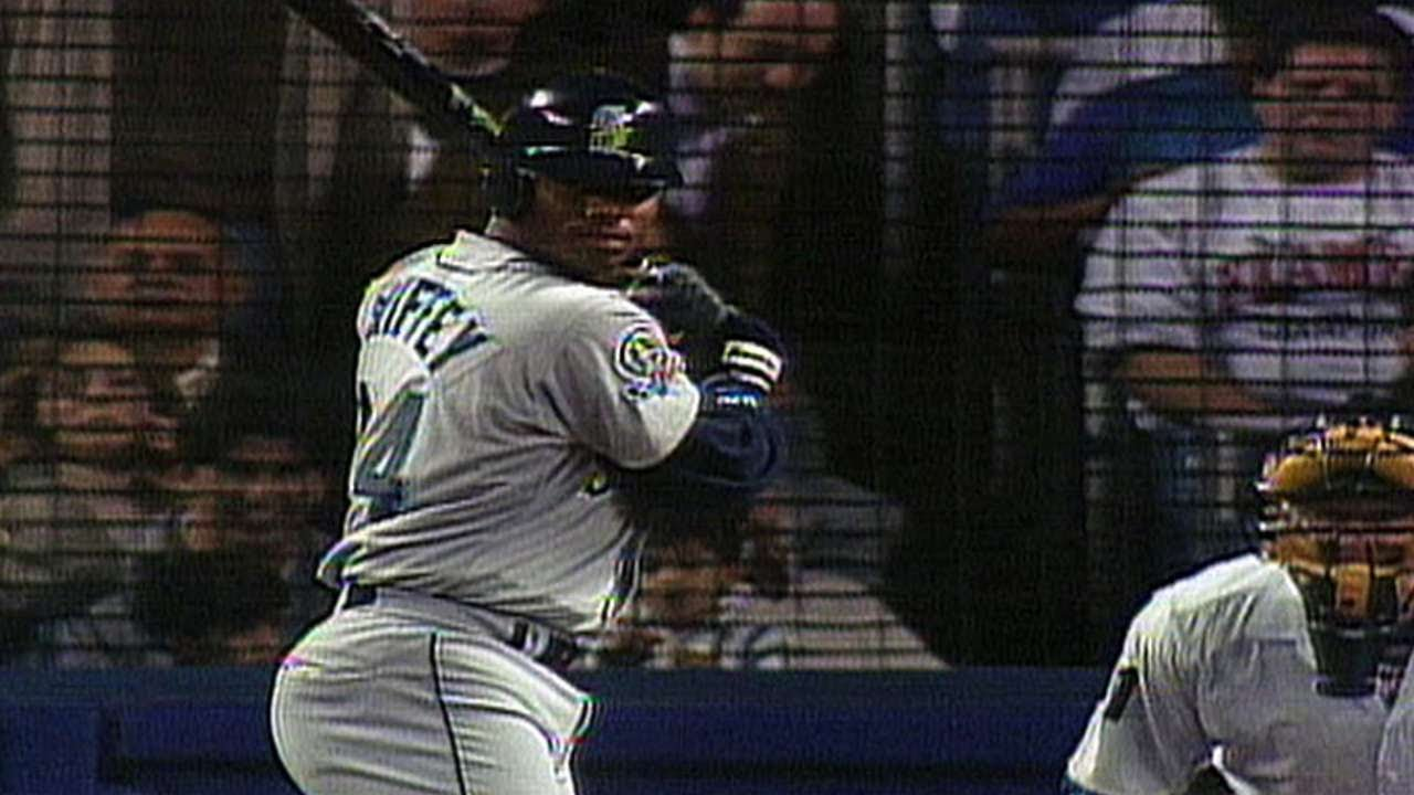 2752492acd 1995 ALDS Gm1: Ken Griffey Jr. blasts two home runs - YouTube