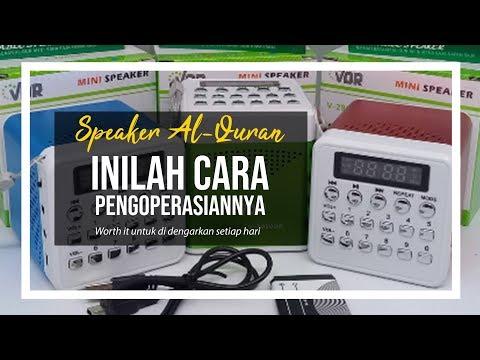 Speaker Al Quran Sedang Hits Ini Cara Penggunaannya Wa 0815 8529 2699