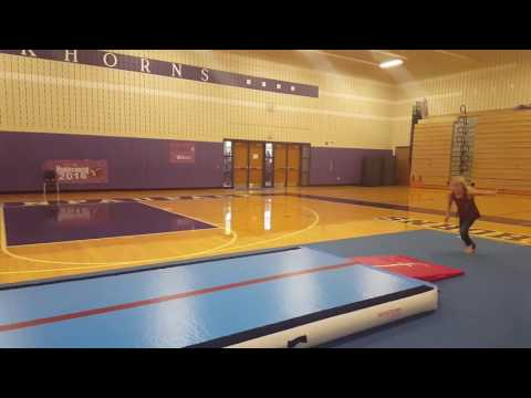 Air Track Tumbling with the Varsity Cheerleaders Tumbl Trak