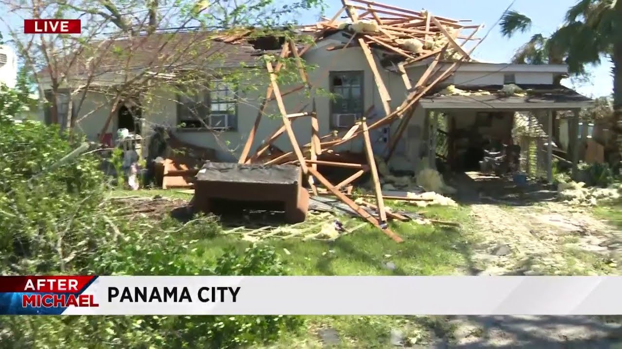 Cleanup efforts underway after Hurricane Michael devastates Florida Panhandle - YouTube