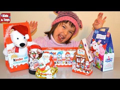 Kinder Surprise Santa Clause Christmas Edition + Peppa Pig