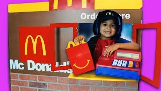 Pretend Play mcdonalds drive thru happy meal