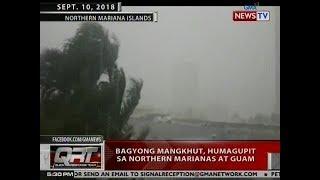 QRT: Bagyong Mangkhut, humagupit sa Northern Marianas at Guam