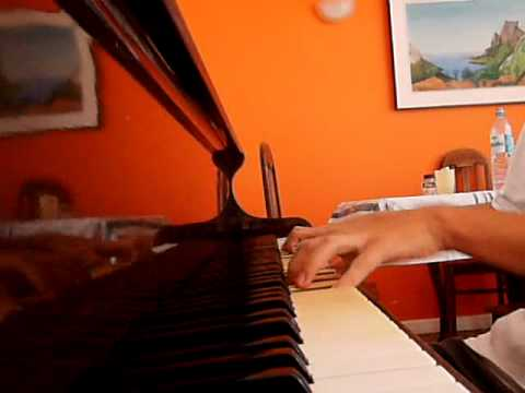 Gabriel Centeio playing piano at home