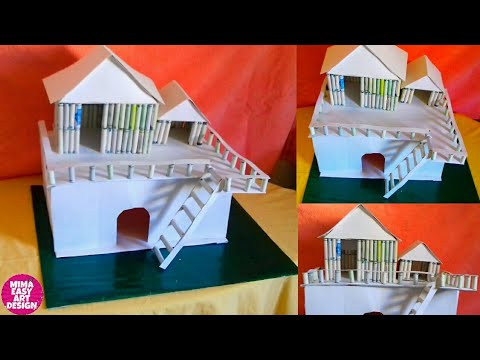 School Project for kids |thread spool craft unique west mathi best mima easy art design
