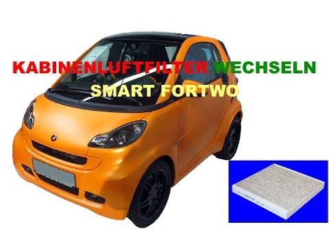 smart fortwo kabinenluftfilter wechseln youtube. Black Bedroom Furniture Sets. Home Design Ideas