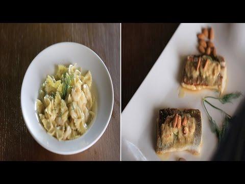 سمك لوط باللوز - باستا بالجمبري والجبنة الريكفورد : شبكة و صنارة حلقة كاملة