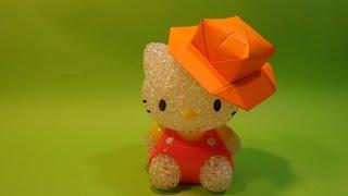 모자 색종이접기3 origami confetti hat3