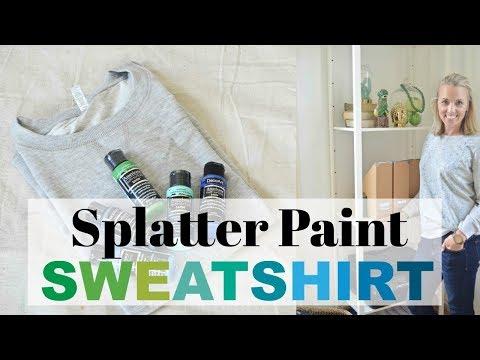 Splatter Paint Sweatshirt