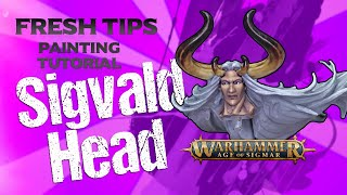 Sigvald the Magnificent (head) Aġe of Sigmar Fresh Tips miniature painting tutorial