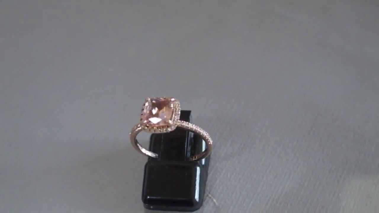 Peach sapphire engagement ring youtube peach sapphire engagement ring junglespirit Choice Image