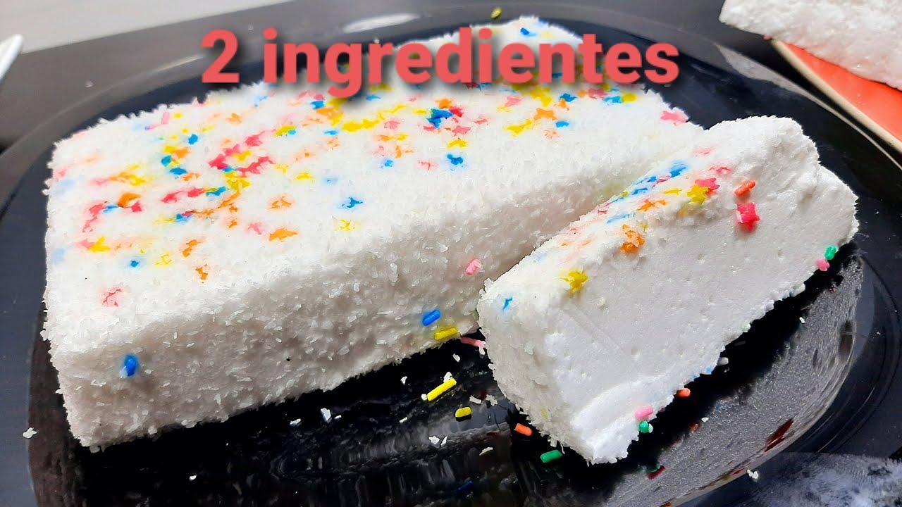 Increible postre 2 ingredientes y en 5 minutos te vas a sorprender!!!!