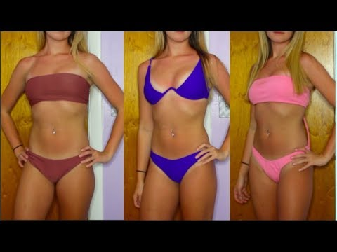 d80adfe649 ZAFUL TRY ON BIKINI HAUL 2018! - YouTube