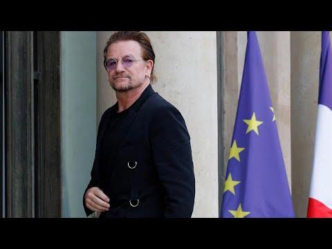euronews (in Italiano): Francia: il leader degli U2 Bono da Macron