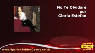 Learn Spanish Songs - No Te Olvidaré - Anything For You - Gloria Estefan