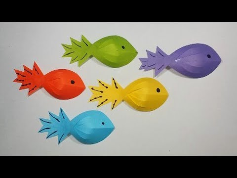 DIY : How to make a paper Fish || Easy paper crafts for kids..!!