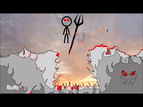 The Cliff 4 - Rebirth (FlipaClip animation 83, stick fight, blood warning!)