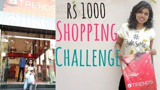 Rs 1000 Shopping Challenge - Reliance Trends Shopping Haul | Adity Iyer #adityvlogs