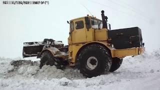 Трактор КИРОВЕЦ. Как выехать, если застрял в снегу, (один из способов). How to get out of the snow?