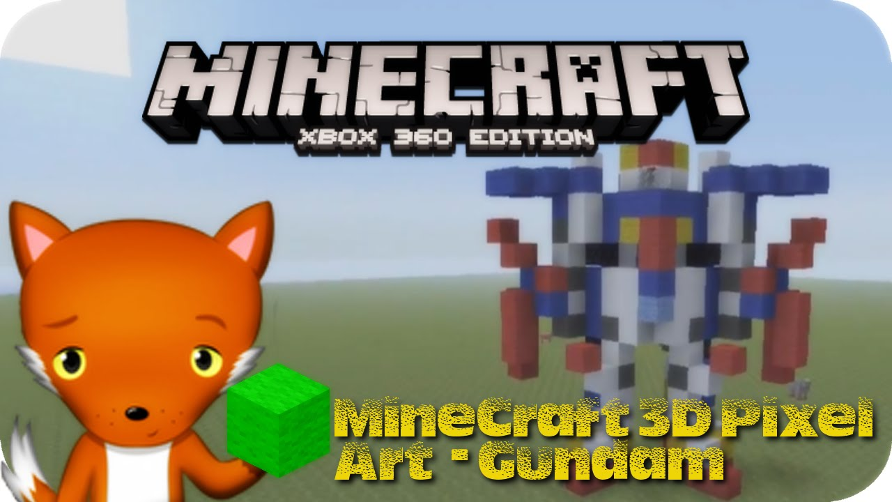 Minecraft 3d Pixel Art Tutorial Gundam Transformer