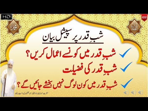 Shab e Qadar Par Special Bayan By Peer Zulfiqar Naqshbandi