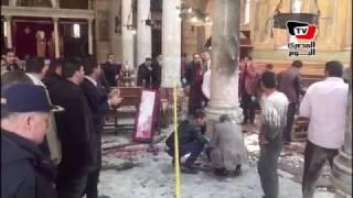 اللقطات الأولى من داخل الكنيسة البطرسية بالعباسية بعد انفجار عبوة