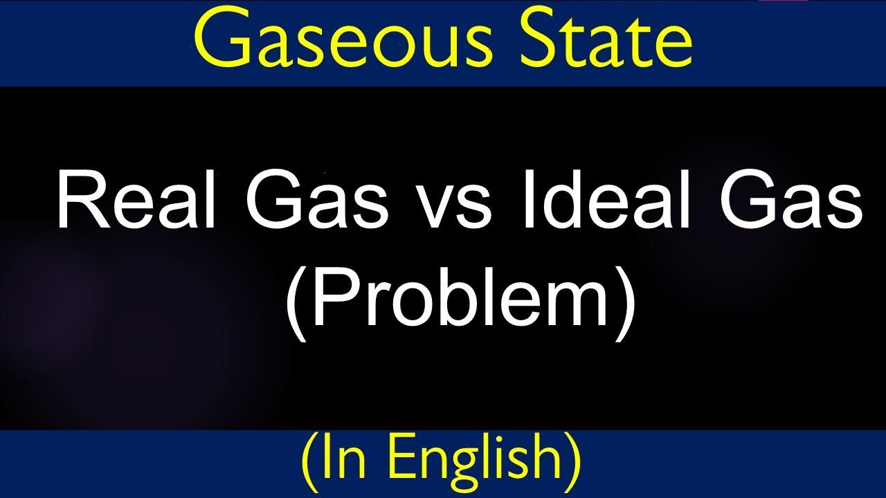 ideal gas equation vs real gas equation problem