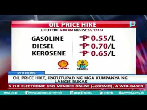 Oil Price Hike ipatutupad ng mga kumpaya ng langis, bukas