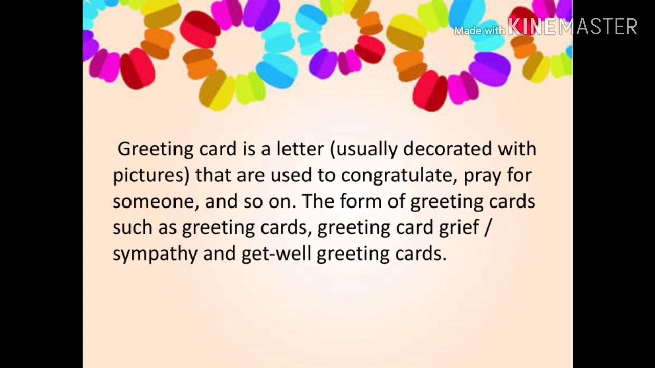 Materi Kelas 8 Greeting Card Youtube