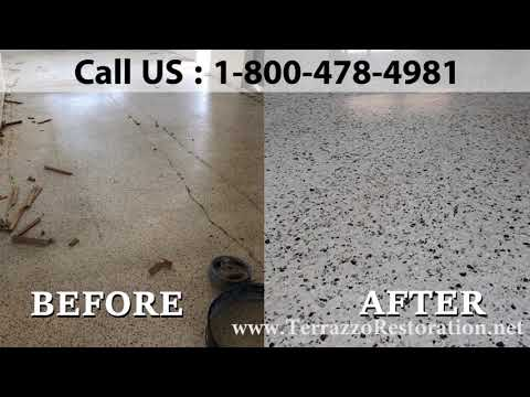 Restoration of Terrazzo Flooring in West Palm Beach