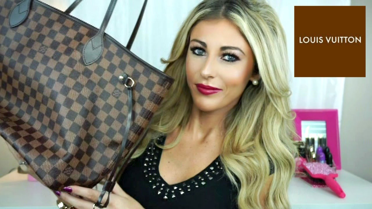 Louis Vuitton Damier Ebene Neverfull Mm Unboxing Review Youtube