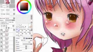 Drawing Hinamori amu in sai
