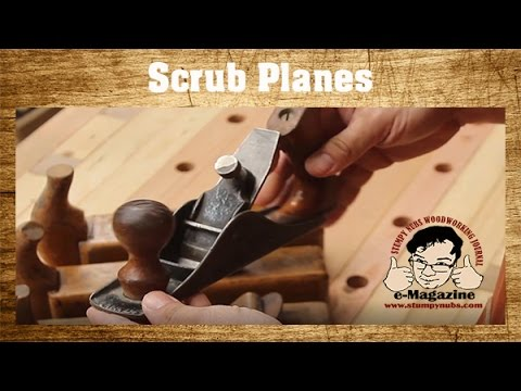 What's a scrub plane? - LET'S MAKE ONE from a cheap Harbor Freight Windsor woodworking plane!