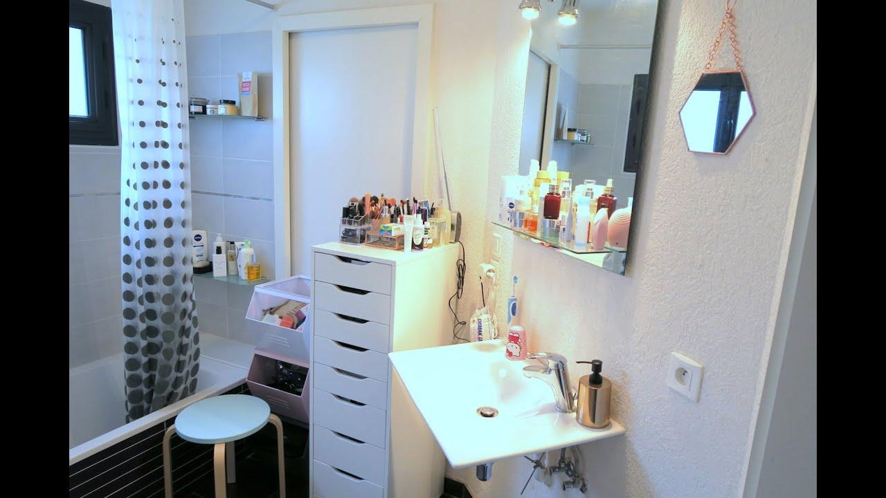 Mon rangement maquillage youtube - Idee rangement salle de bain ...