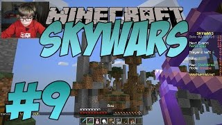 THE IMPOSSIBLE SHOT!! - Minecraft SkyWars (#9) | KID GAMING