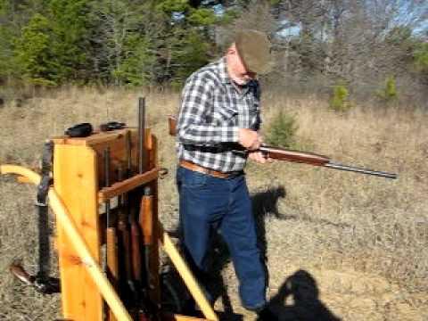 Amish Wooden Cedar Cowboy Gun Cart - 5 Gun