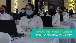 Pelaksanaan Tes CASN Kemenkes Jabar Patuh Protokol Kesehatan