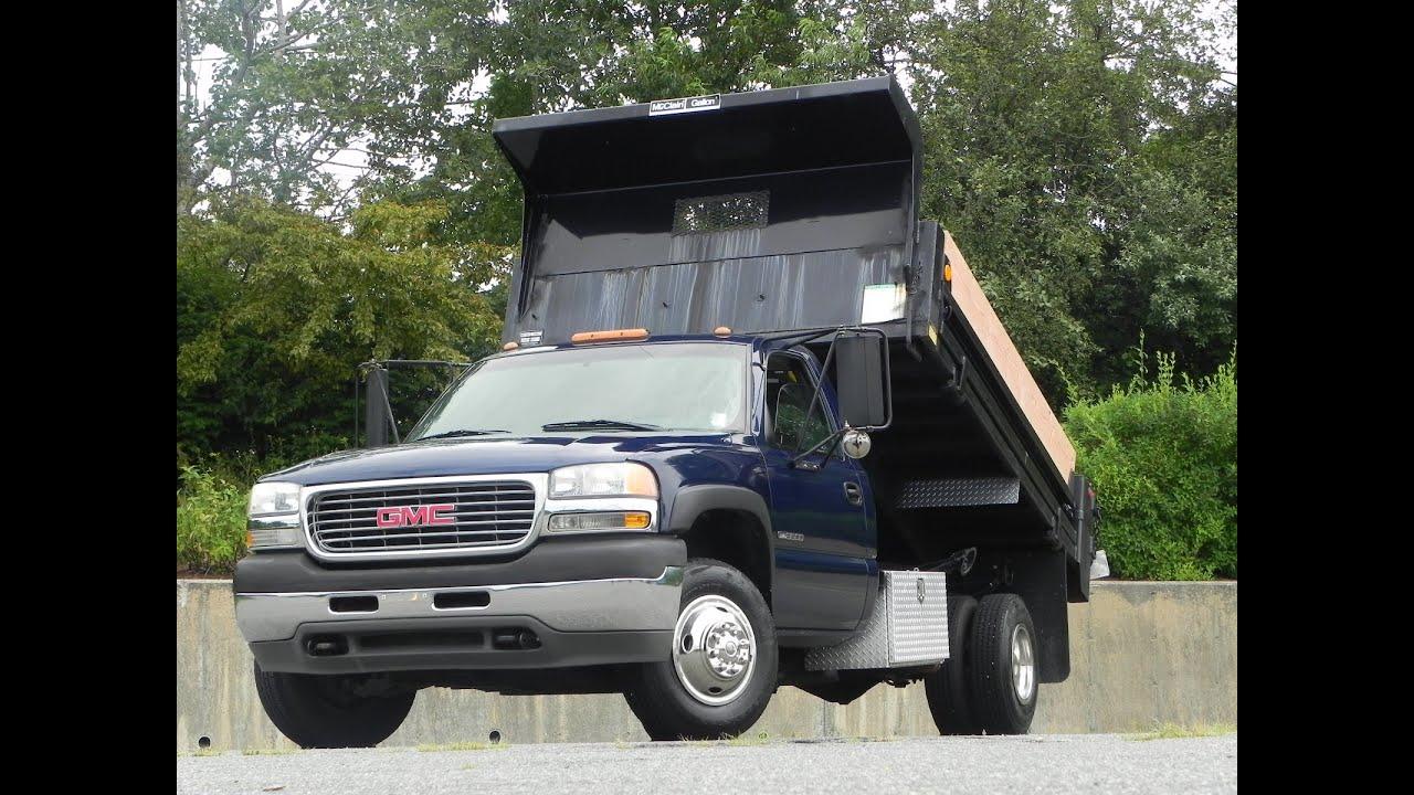2001 gmc sierra 3500 dump truck 6 0l vortec gas