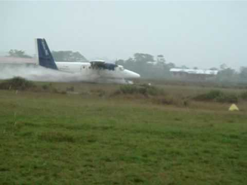 Wet Runway Take-off DHC 6 Twin Otter
