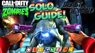 BEAST FROM BEYOND EASY SOLO EASTER EGG GUIDE! - IW Zombies DLC 4 SOLO EE FULL TUTORIAL!