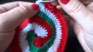 crochê espiral 3 cores
