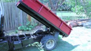 SOLD: Mini-truck Mini Dump Truck with Dump Bed Farm Truck UTV
