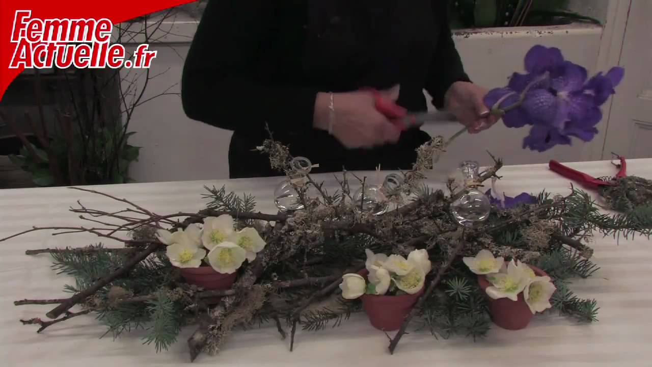 D corer sa table pour le r veillon th me nature youtube - Decorer sa table de noel ...