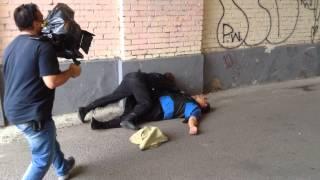 "Съемка сериала "" Перевозчик"". Трюк"