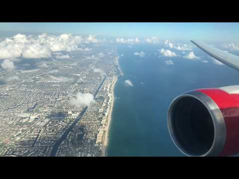 Landing Fort Lauderdale FLL from Montreal | 767-300ER | Air Canada Rouge 1600