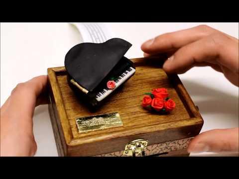Piano music box - gift of a kind, make your own music composal (Song, Big Bang - Haru Haru)